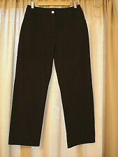 St John Women's Straight Leg Denim Jeans Black Stretch Casual Pockets Sz 8