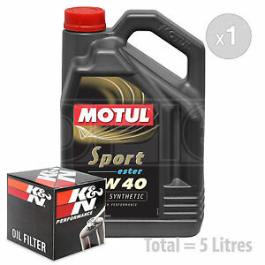 Engine Oil and Filter Service Kit 5 LITRES Motul Sport 5W-40 5W40 Engine Oil 5L