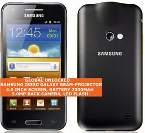 "SAMSUNG I8530 GALAXY BEAM Dual-Core 5mp Camera 4.0"" Android Smartphone Black"