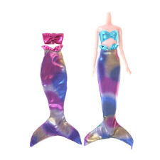 Handmade Mermaid Top Tail Dress Fairytale Clothes For  Doll Girls Toy TO