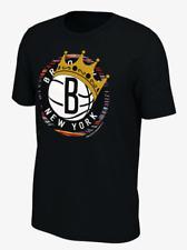 New Nike 2019 Brooklyn Nets Notorious Biggie Smalls Crown Essential Logo T-Shirt