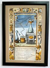 Alchemical apparatus from 17th century engraving  - painted by Adam McLean