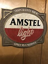 Amstel light imported bier beer 95 calories sign wall plaque 3D 1985 vintage