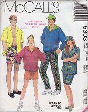 McCalls 5303 Ladies', Men's Sweatshirt, Shirt, Pants or Shorts Size Small