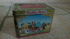 Boîte métal publicitaire ancienne - QUALITY STREET MACKINTOSH'S  12cmx8cmx8cm