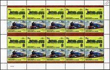 1915 Highland / Caledonian Railway River Class 938 4-6-0 Train 20-Stamp Sheet