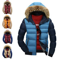 Mens Padded Bubble Hooded Coat Winter Warm Thick Puffer Quilted Jacket Par№d