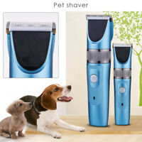 Electric Pet Hair Clipper Dog Trimmer Cat Cordless Rechargeable Grooming Kit