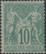 "FRANCE STAMP TIMBRE N° 65 "" SAGE 10c VERT TYPE I 1876 "" NEUF xx A VOIR J916"