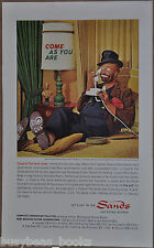 1962 SANDS HOTEL advertisement, Las Vegas, Red Skeleton as Hobo