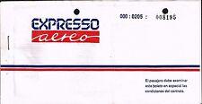 EXPRESO AEREO AIRLINES PERU AVIATION PASSENGER TICKET 1994