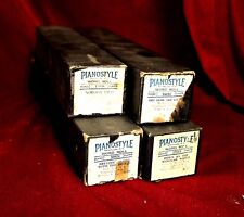 Antique 1925 PianoStyle Player Piano Rolls - Set of 4, Two Foxtrot & Two Waltz