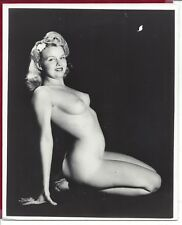 1950's Vintage Nude Photo~Big Perky Breasts Puffy Nipples Blonde Pinup Poses