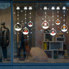 merry christmas removable diy wall stickers shop window sticker noel christmasEP