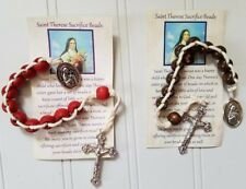 St. Therese Sacrifice Beads ~ Choose Brown or Red Rose Scented ~ with Card