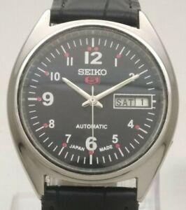 Vintage Seiko 5 Japan 17J Automatic 6309 8840 St. Steel Day Date Men Wrist Watch