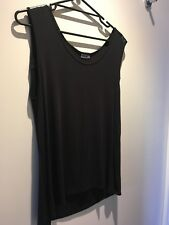 Sz 16 -18 DKNY Black Sleeveless Top With Trim