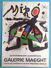 Joan MIRO Affiche Originale Lithographie de 1978-79 Arte Paris 39ans 77cm
