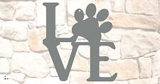 """Puppy Love wall sign 10"""" x 10"""", Raw Steel NO paint"""