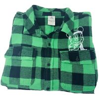 Disney Parks Mickey Mouse Flannel Shirt 2020 Holiday Unisex XL Screen Art