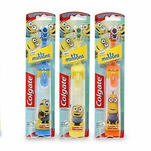 Colgate Minions Electric Toothbrush Childrens Soft Fun Brush Assorted