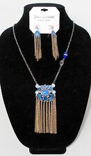 & Fringe Drop Earrings Nwt Juicy Couture Cabochon And Fringe Necklace