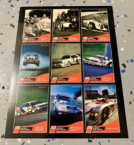 Audi-Auto Union-RACING/|RS Card SET S1 Silver Arrow A4 R8*Type A2 S4 Rs3 Quattro