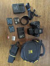Panasonic Lumix G7 digital camera,  14-42mm Lens, 128GB SD card, 3 batteries ec