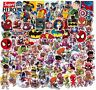 100 Aufkleber Marvel Superhelden Spiderman Stickerbomb Joker Batman Ironman Hulk