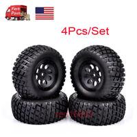 US 4Pcs 1:10 Short Course Truck Tyres 12mm Hex For TRAXXAS SlASH RC Model Car