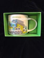 Starbucks Liverpool YAH Mug Albert England Guitar Mersey Soccer You Are Here New