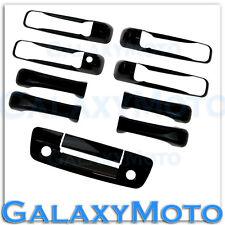 09-15 Dodge Ram Gloss Black 4 Door Handle+Tailgate w/Keyhole+Camera Hole Cover