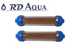 2 x Refillable Mixed Bed DI Resin Filter Inline De-Ionization Aquarium System