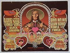 1970 ARTHUR LEE LOVE,James Gang,BLACK SABBATH Big Concert Postcard