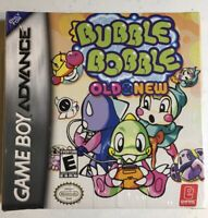 Factory Sealed BUBBLE BOBBLE OLD & NEW (Nintendo Gameboy Advance GBA 2002) RARE!