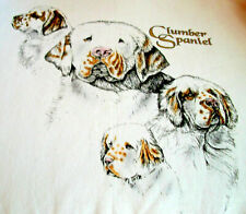 "Clumber Spaniel T-shirt "" White "" Lg ( 42 ~ 44 )"