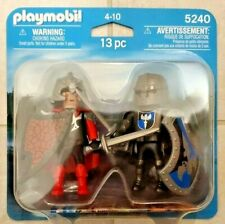 New Playmobil 5240 - Red and Blue Knights Duo Pack