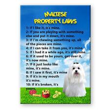 MALTESE Property Laws FRIDGE MAGNET Funny