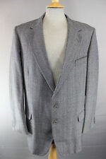 JOHN G. HARDY BESPOKE TAILORED PURE WOOL TWEED GREY CHECKED JACKET 44 INCH