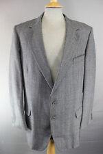 John G. Hardy BESPOKE Tailored Pura Lana In Tweed Grigio Giacca selezionata 44 pollici