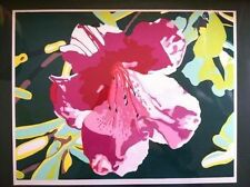 Authentification Serigraph signed  Flower Edt.of 375 Nouvelle gravure,seeBottom