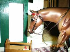 Jaapi BROWN Western BRIDLE w/red - fits Breyer Classic