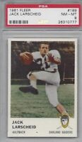 1961 Fleer AFL football card #189 Jack Larscheid, Oakland Raiders PSA 8 NMMT