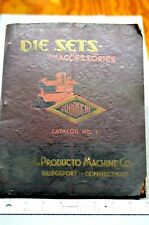 Producto Machine Co. Vintage Catalog (Die Sets and Accessories) 1935