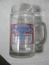 "Vintage Anheuser-Busch Budweiser 6 1/2"" Tall Huge Glass BEER MUG"