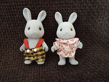 Sylvanian Families RARE BABBLEBROOK GREY RABBIT FAMILY