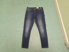 "Crosshatch Para Las Chicas Jeans Waist 32"" Leg 27"" Faded Dark Blue Ladies Jeans"