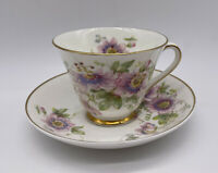 Royal Doulton Passion Flower Cup And Saucer Set Vintage Bone China England