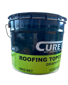 Cure It | Roofing Topcoat | Graphite Grey | Flat Roofing | GRP Roofing | 10 KG