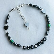 HOTWIFE Colour Changing Mood Bead Magnetic Hematite Heart Anklet Ankle Bracelet